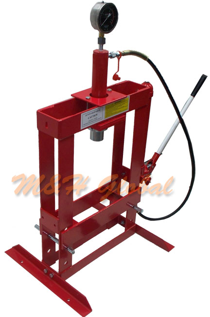 10 Ton Hydraulic Shop Press Floor Bench Top W Pressure Gauge Ebay