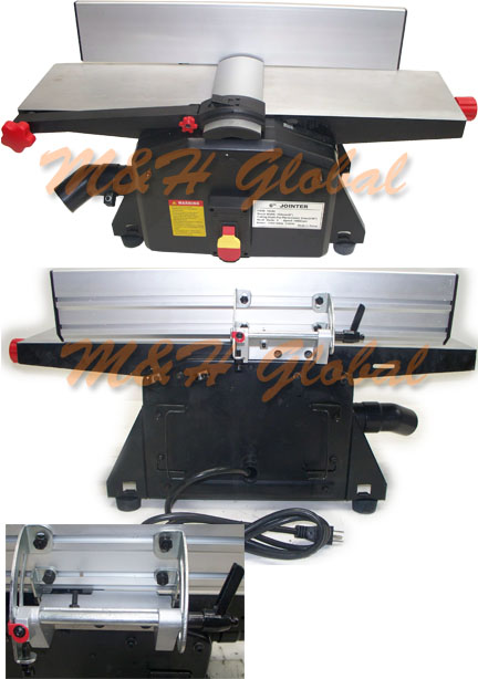 Bench Top 6 Wood Jointer Joiner Planer 1 1 2hp 10000rpm Joining Machine Ebay
