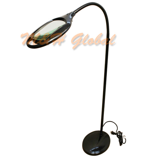 Flexible 3 diopter magnifying lamp floor stand gooseneck for Floor standing led magnifying lamp